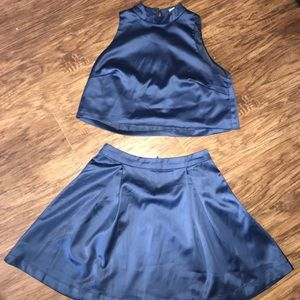 Silky Navy Blue set